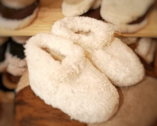 Pantufla grande blanca