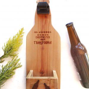 destapador madera cerveza